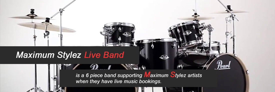 Maximum Stylez live band is a 6 piece band supporting Maximum Stylez artists when they have live music bookings.